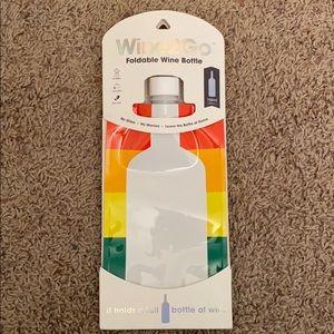 NEW Wine2Go Foldable Rainbow Wine Bottle